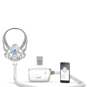 ResMed AirMini Bedside Starter Kit with Full Face Mask