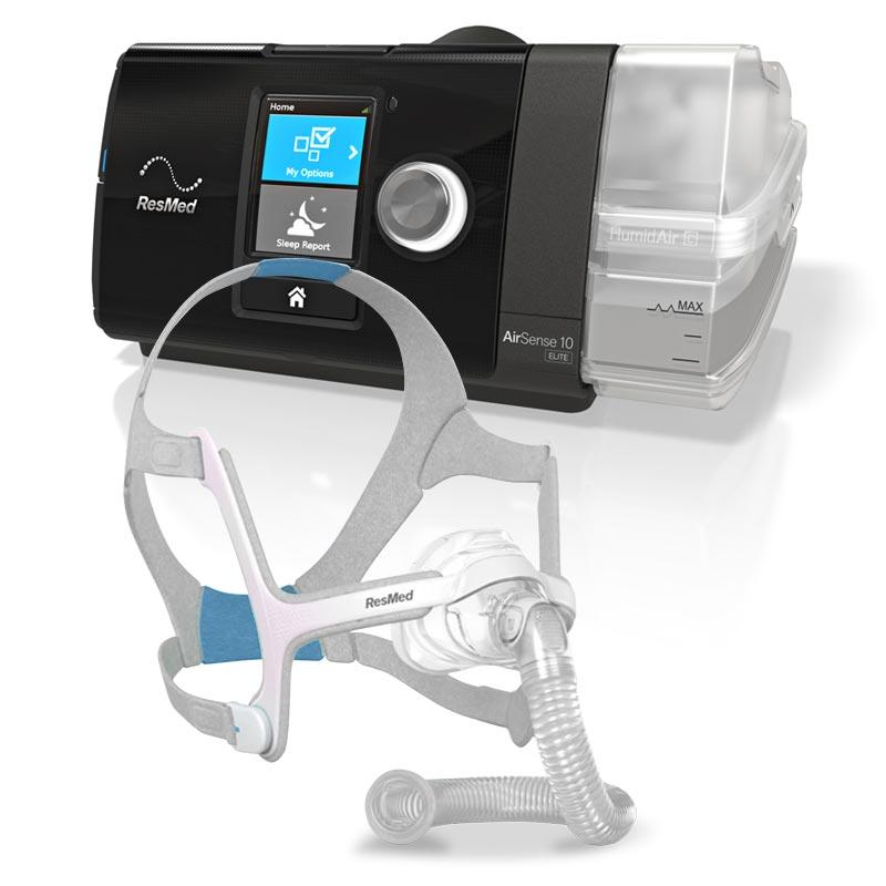 VARIATION - ResMed AutoSense™ 10 Elite for CPAP Machine + AirFit™ N20 Nasal Mask